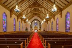 Zlany kościół metodystów Raleigh fotografia royalty free
