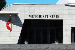Zlany kościół metodystów w Tallinn, Estonia obrazy stock