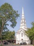 Zlany kościół New Hampshire Chrystus Keene fotografia royalty free