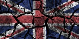 Zlany królestwo flaga obraz na wysokim szczególe pękał ziemię royalty ilustracja