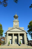 Zlany Pierwszy Farny kościół, Quincy, Massachusetts zdjęcia stock
