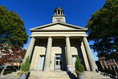 Zlany Pierwszy Farny kościół, Quincy, Massachusetts obraz royalty free