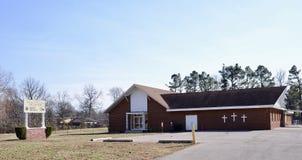 Zlany poczet M B Kościół, Zachodni Memphis, Arkansas fotografia stock