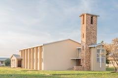 Zlany Reformowany kościół w Nieuwoudtville fotografia stock