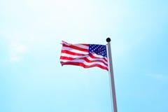 Zlany stan Ameryka flaga obrazy royalty free