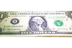 Zlany stan Ameryka Jeden dolara banknoty Obraz Stock