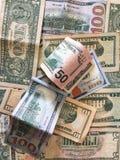 Zlany stanu dolar lub USD rachunki zdjęcie royalty free