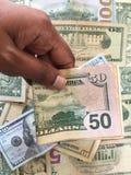 Zlany stanu dolar lub USD rachunki zdjęcie stock