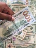 Zlany stanu dolar lub USD rachunki zdjęcia stock