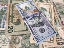 Zlany stanu dolar lub USD rachunki zdjęcia royalty free