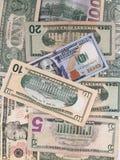 Zlany stanu dolar lub USD rachunki fotografia stock