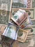 Zlany stanu dolar lub USD rachunki obrazy stock