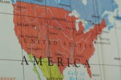 Zlany stanu terytorium kraj na papierowej mapie obraz royalty free
