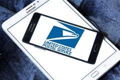 Zlany stanu usługi pocztowe logo obraz stock