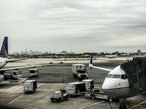 Zlany Terminal przy Newark swobody lotniskiem międzynarodowym obrazy royalty free