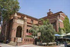 Zlany Uniwersytecki kościół uniwersytet Południowy Californi obraz stock