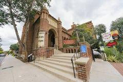 Zlany Uniwersytecki kościół USC zdjęcie stock