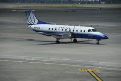 Zlany Wyraża samolot fotografia stock