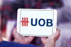 Zlany Zamorski bank, UOB, logo obraz stock