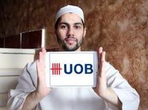 Zlany Zamorski bank, UOB, logo zdjęcia royalty free