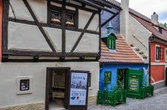 Zlata街是一个布拉格主要地标  库存照片