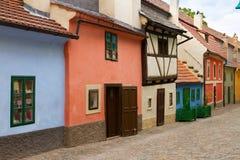 Zlata街道,布拉格 免版税库存图片