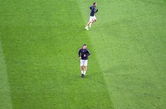 Zlatan Ibrahimovic in action before the UEFA Champions League ma stock image