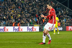 Zlatan Ibrahimovic Feyenoord Game moments. In match 1/8 finals of the Europa League between FC `Rostov` and `Manchester United`, 09 March 2017 in Rostov-on-Don stock images