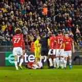 Zlatan Ibrahimovic Feyenoord, Spielmomente stockfotografie