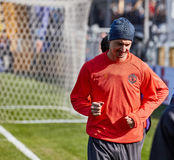 Zlatan Ibrahimovic Feyenoord on during training session. Before match 1/8 finals of the Europa League between FC `Rostov` and `Manchester United`, 08 March 2017 royalty free stock photography