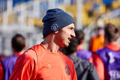Zlatan Ibrahimovic Feyenoord on during training session. Before match 1/8 finals of the Europa League between FC `Rostov` and `Manchester United`, 08 March 2017 stock photo