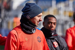 Zlatan Ibrahimovic Feyenoord on during training session. Before match 1/8 finals of the Europa League between FC `Rostov` and `Manchester United`, 08 March 2017 stock images