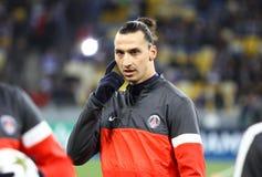 Zlatan Ibrahimovic van FC Parijs heilige-Germain Stock Afbeeldingen