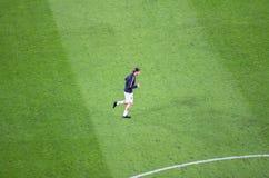 Zlatan Ibrahimovic w akci przed UEFA champions league ma Obrazy Royalty Free