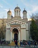 Zlatari kyrka (guldsmedernas kyrka) - Bucharest, Rumänien Arkivfoton