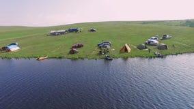 Zlatibor halny Serbia, obozuje jeziorną anteną zbiory wideo
