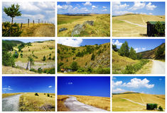 Zlatibor landscapes. Collage of various landscapes from Zlatibor mountain Stock Photos