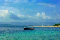 Zlatni鼠海滩- Bol,克罗地亚 免版税库存图片