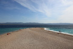 Zlatni rat beach, Croatia Royalty Free Stock Photo