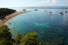 The Zlatni Rat beach in Croatia Royalty Free Stock Images