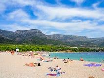 Zlatni Rat, the famus beach on Brac island, Croatia Stock Image