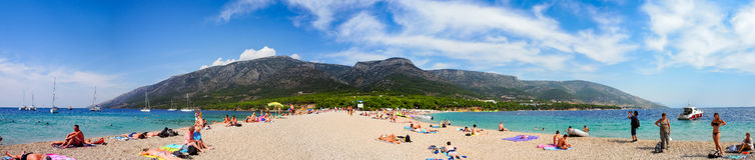 Zlatni Rat, the famus beach on Brac island, Croatia Stock Photography