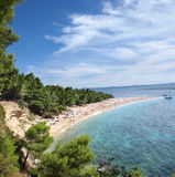 Zlatni Rat (Golden Cape). Croatia's most famous beach. Bol, Island of Brac stock photography