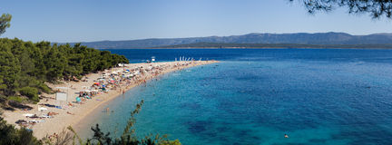 Zlatni rat, Golden cape, Brac Croatia Stock Photos