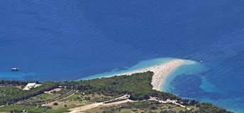 Zlatni Rat Peninsula Stock Photography