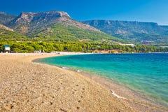 Zlatni Rat turquoise beach in Bol Royalty Free Stock Images