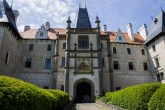 Zleby城堡和塔 免版税库存照片