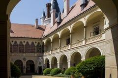Zleby slott och torn royaltyfri foto