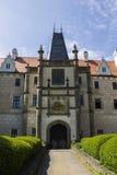 Zleby slott och torn royaltyfria foton