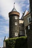 Zleby slott och torn arkivbild